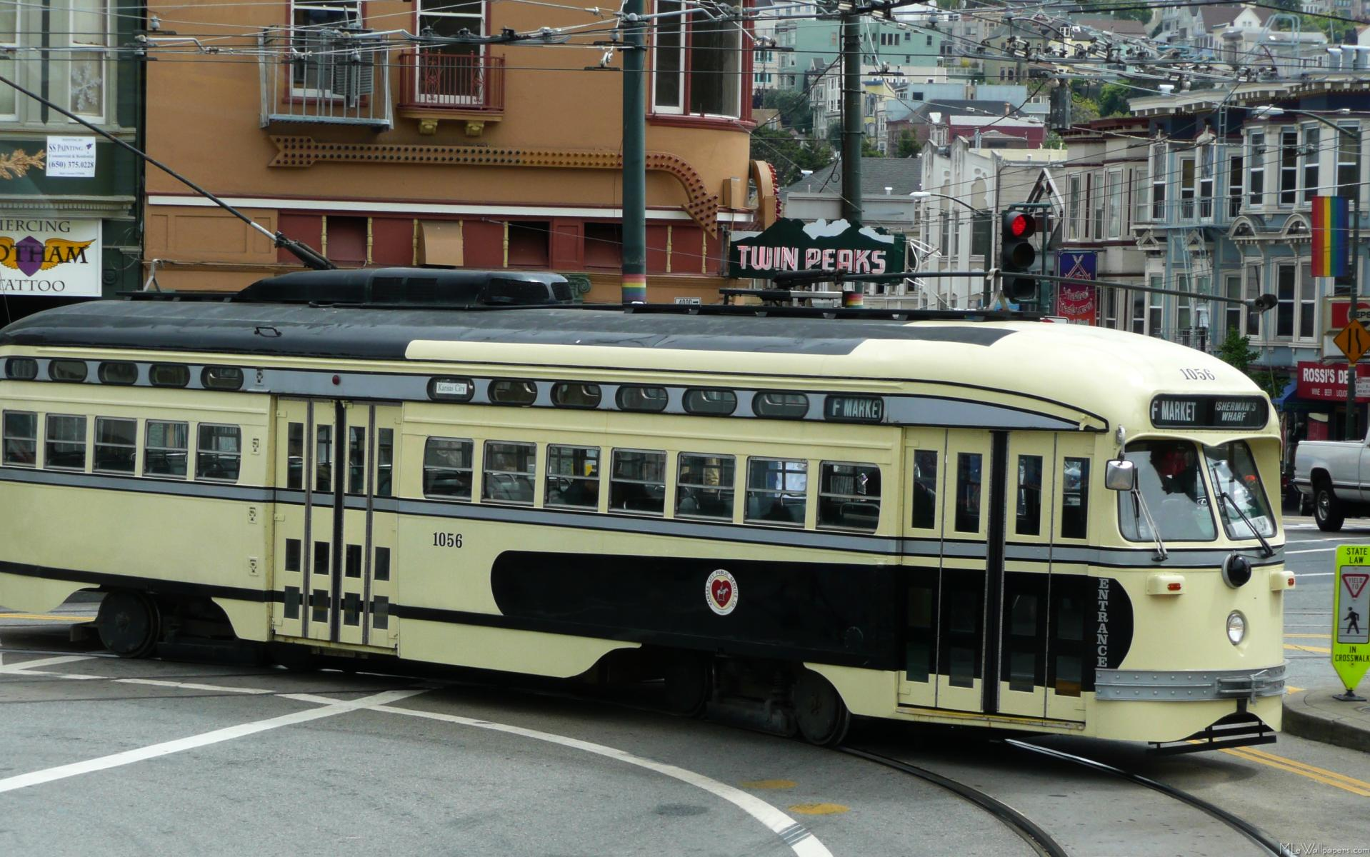 san francisco cable car wallpaper. Black Bedroom Furniture Sets. Home Design Ideas