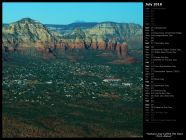 Sedona and Coffee Pot Rock from Above